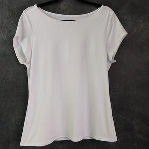 GRACE ELEMENTS   White Short Sleeve Shell Size XL